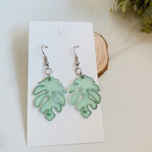3/$30 Tropical leaf earrings
